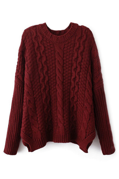 red burgundy sweater burgundy sweater cute cute sweater knit tumblr pretty beautiful
