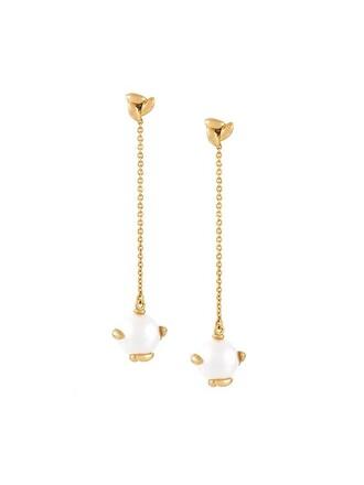 pearl earrings metallic jewels