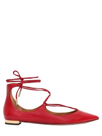 flats leather flats lace leather dark dark red red shoes