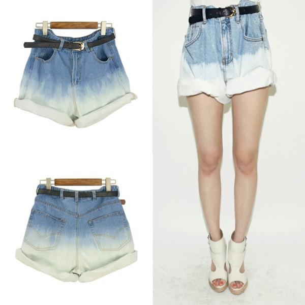 shorts i4out denim fashion streetstyle clothes pants denim pants look lookbook hot shorts high waisted denim shorts