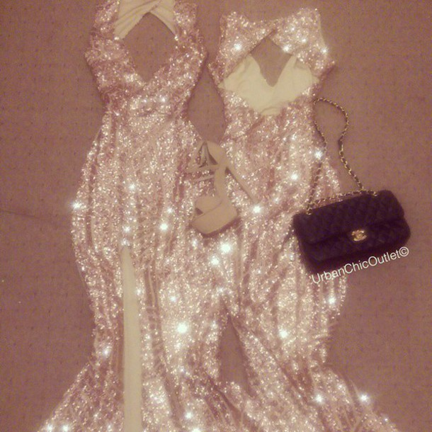 dress rose gold sequin dress