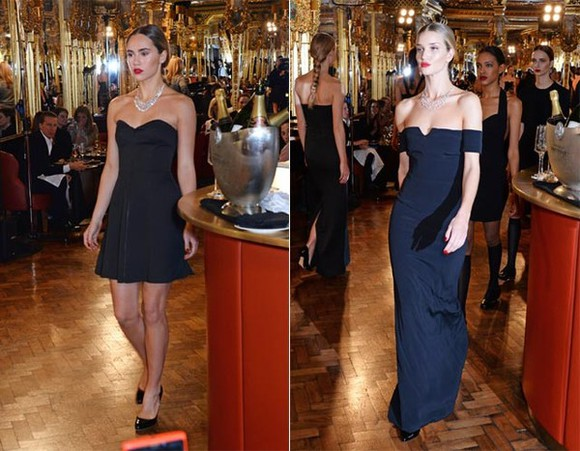 dress rosie huntington-whitley black lfw Wherecanibuythis