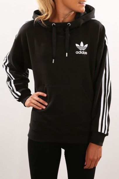sweater black hoodie adidas adidas black hoodie jacket black and white striped