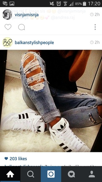 shoes adidas shoes jeans adidas black and white stripes pastel sneakers adidas originals white ripped jeans