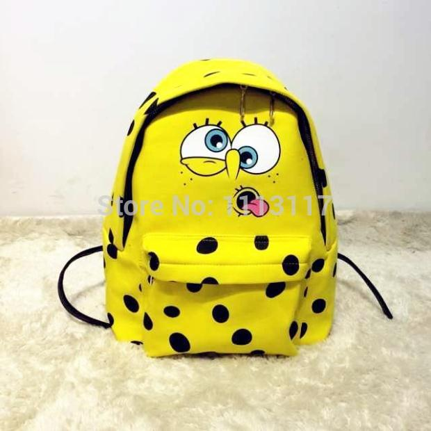 Free shipping famous design mos spongebob backpack female student school bag casual bag backpack bags