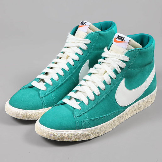 9ed0126d9f65b3 Nike Blazer Hi Suede Vintage Shoes - New Green Sail