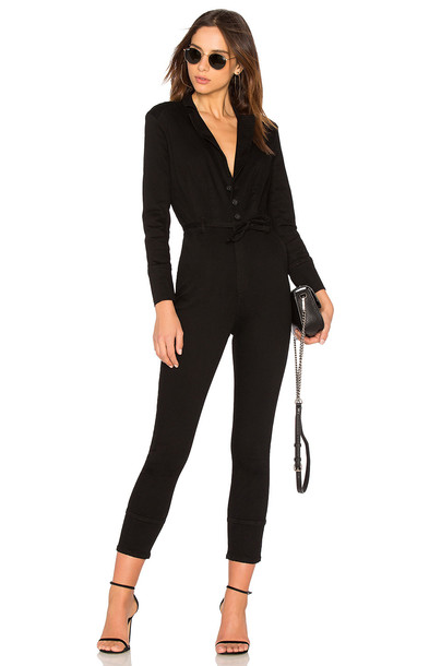 Free People Take Me Out Fitted Jumpsuit in black