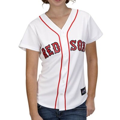CFS - Majestic Boston Red Sox Ladies White Replica Baseball Jersey