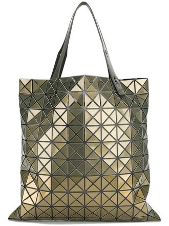 women geometric grey metallic bag