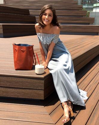 dress maxi dress summer dress summer outfits purse sandals olivia culpo instagram shoes