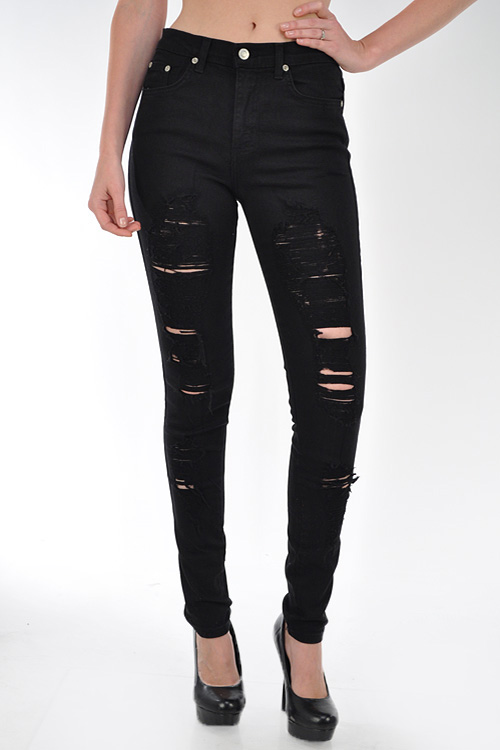 BLACK RIPPED JEANS — Appealing Boutique