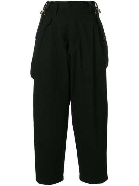 Y's cropped women cotton black pants