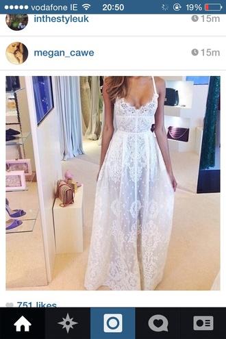white dress maxi maxi dress summer dress long prom dresses wedding dress lace dress corset