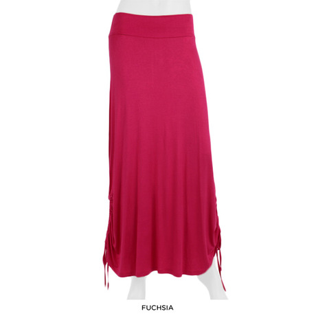 Skirt with adjustable sides