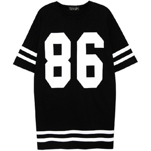 TOP SHOP #86 Printed Black White Jersey T-Shirt - Polyvore
