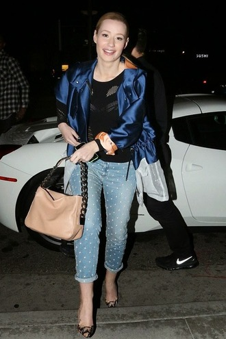 shoes pumps iggy azalea jacket jeans purse bag