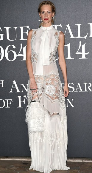 maxi dress dress fashion week 2014 white dress poppy delevingne