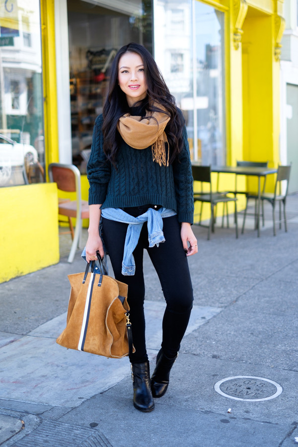 the fancy pants report blogger scarf jacket bag