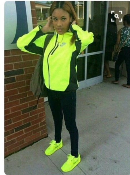 73c16f25f52f shoes neon yellow nike sneakers yellow nike jacket windbreaker neon nike  low top sneakers sneakers