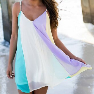 dress lilac blue fashion style yellow trendy summer beach white rose wholesale-feb