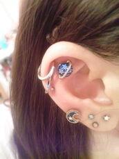 jewels,earrings,galaxy print,moon,saturn,universe,stars,ear,piercing,jewelry,earth,earings,cartalidge,planet earrings,planet saturn,blue galaxi