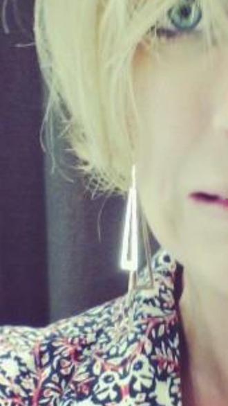 jewels earrings mango silver