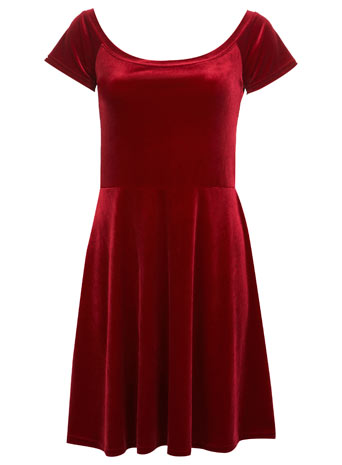 Red Velvet Skater Dress - View All - New In - Miss Selfridge