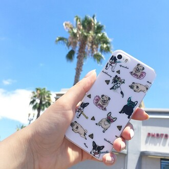 phone cover yeah bunny pugs dog frenchie