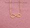 Infinity nameplate pendant