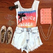 t-shirt,bag,shorts,jeans,shirt,shoes,jewels,beach shirt,palm tree print,tank top,top