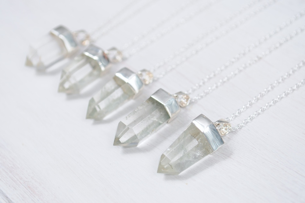 Silver dipped quartz