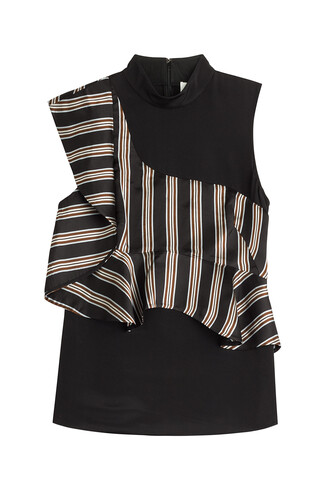 blouse sleeveless silk multicolor top