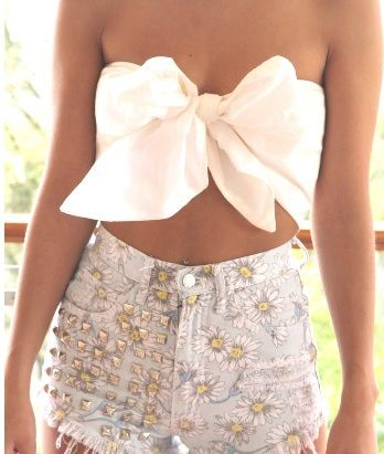 New Isabella Longginou Silk Bow Ivory Bandeau Crop Top One Size Fits All RRP $50 | eBay