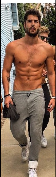 grey sweatpants pants