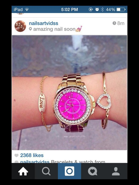jewels pink watch