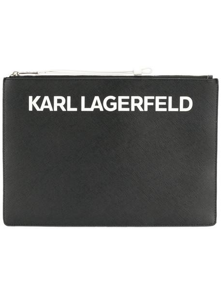 karl lagerfeld women clutch black bag