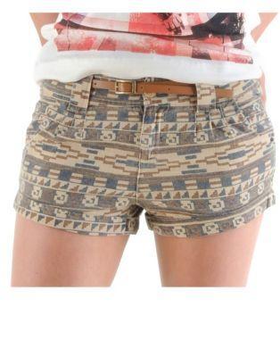 Blonde & blonde aztec shorts