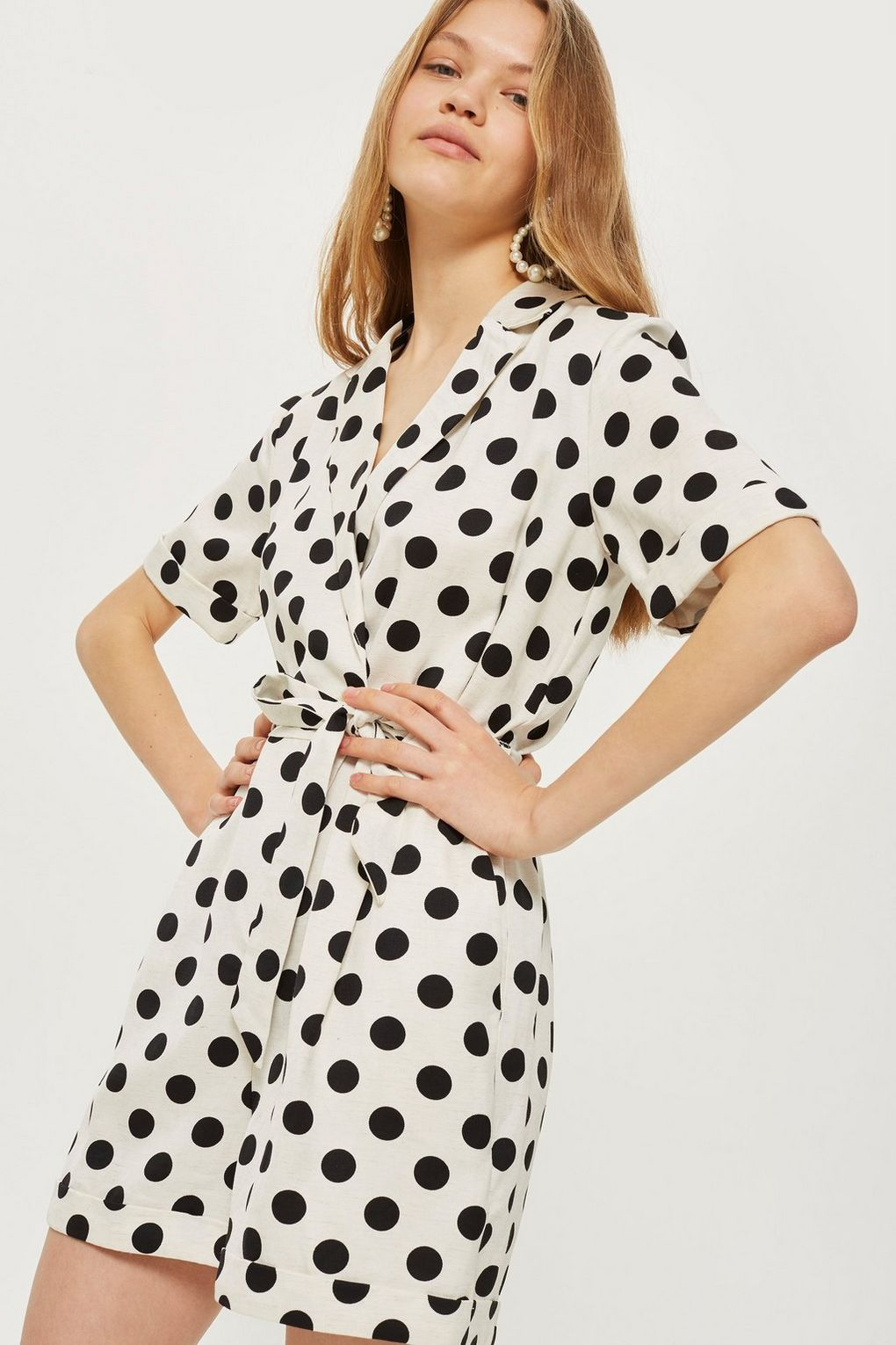 Spot Print Playsuit - Rompers & Jumpsuits - Clothing