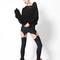 New matte black suspenders | black milk clothing