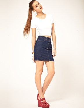 High Waisted Jean Skirts - Is Jeans