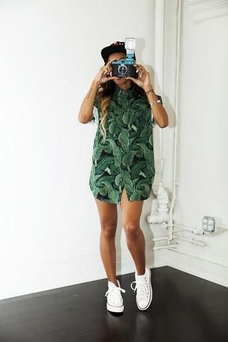 blouse karrueche green blouse mint green shirt weed plants tropical hipster