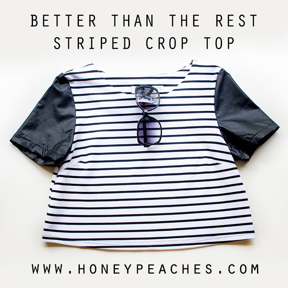 Better Than The Rest Striped Crop Tee – Honey Peaches