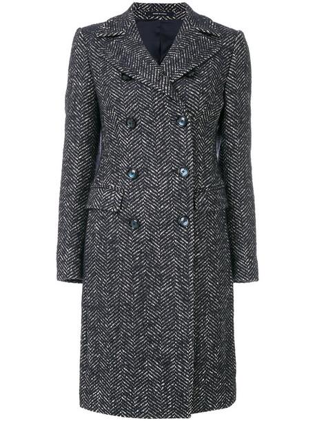 TAGLIATORE coat women cotton blue
