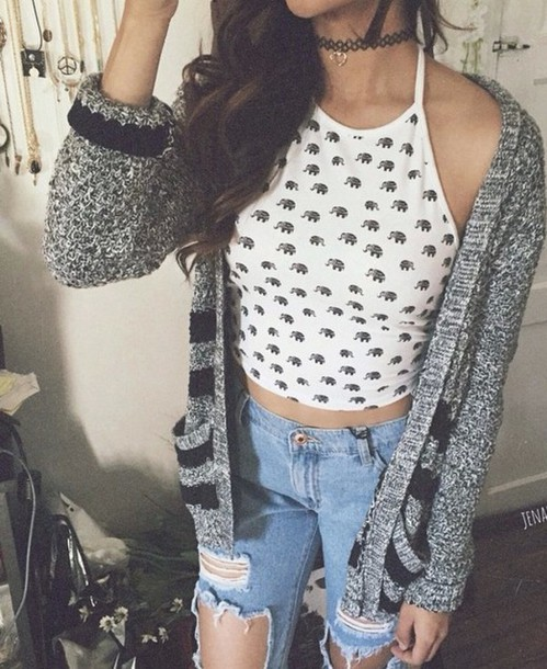Top tumblr outfit tumblr girl crop tops jacket ...