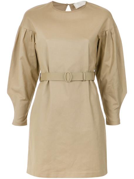 Lilly Sarti dress short dress short women spandex nude cotton