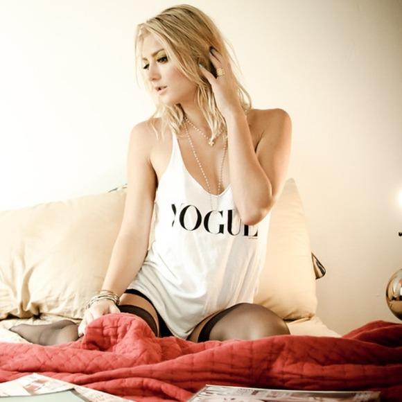 63% off Brandy Melville Tops - 'Vogue' Tank Top from Sarah's closet on Poshmark