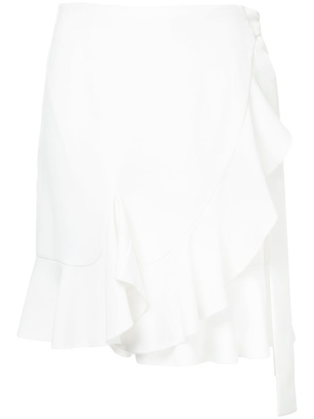 skirt wrap skirt ruffle women white