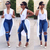 Women Stretch Ripped Skinny High Waisted Denim Pants Jeans Jeggings Trousers
