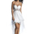 White Chiffon Overlay Beaded High Low Dress [DJ10245] - $165.00 : Discover Unique Dresses Online at PromUnique.com