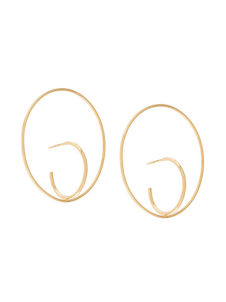 Charlotte Chesnais women earrings gold silver yellow grey metallic jewels